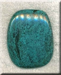Natural Turquoise Freeform Cabochon for Wire-Wrapping, 50x41mm Cab