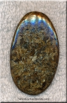 Bronzite Cab for Wire-Wrapping Freeform Gemstone Cabochon 52x31mm