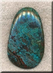 Natural Turquoise Gemstone Cab for Wire-Wrapping, Freeform 57x35mm