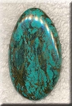 Natural Turquoise Cab, Freeform Turquoise Cabochon, 56x33mm