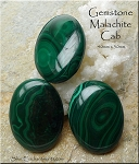 Malachite Cab, 40x30mm Natural Malachite Cabochon (1), Gemstone Cab
