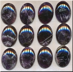 Dark Amethyst Cabochon, Calibrated Oval 22x30mm