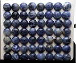 Sodalite Cabochon, Calibrated Coin 10mm