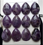 Amethyst Cabochon, Calibrated Teardrop 18x25mm