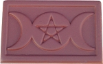 ZSOLDOUT / Triple Moon with Pentacle Chocolate Mold, Pagan Candy Mold