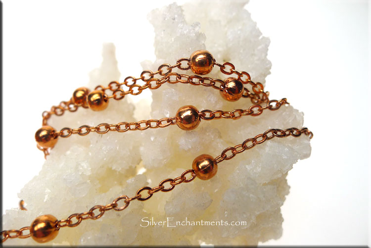 Copper Ball Chain by the Foot