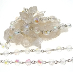 Crystal Beaded Chain 6mm faceted round