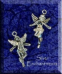 Sterling Silver 3D Angel Charm, Both Sides Shown