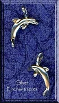 Sterling Silver Dolphin Pendant 3D Bailed