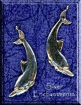 Sterling Silver Dolphin Pendant, Double-sided Bailed