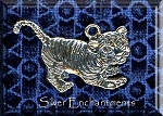 Sterling Silver Tiger Cub Pendant, Baby Tiger