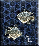 Sterling Silver Fish Charm, Double-sided