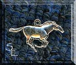 Sterling Silver Mustang Charm, Horse