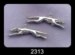 Sterling Silver Running Greyhound Charm Pendant