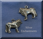Sterling Silver 3D Wolf Jewelry