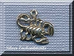 Scorpion Charm, Sterling Silver