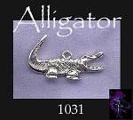 Alligator Pendant, Sterling Silver