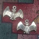Sterling Silver Bat Charm, Bat Jewelry