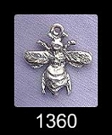 Sterling Silver Bee Charm, Honey Bee