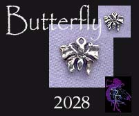 Sterling Silver Small Butterfly Charm