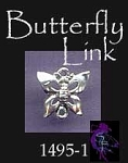 Butterfly Jewelry Link Finding or Dangler, Sterling Silver