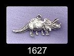 Sterling Silver Dinosaur Charm, Triceratops