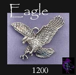 Sterling Silver Eagle Pendant, Large Striking Eagle