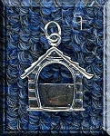 Sterling Silver Dog House Picture Frame Charm