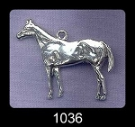 Sterling Silver Horse Pendant, Large Stallion
