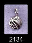 Bailed Sterling Silver Shell Charm, Seashell Jewelry