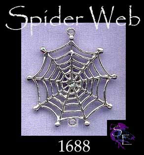 Sterling Silver Spider Web Pendant with Loop