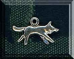 Sterling Silver Double-Sided Wolf Charm