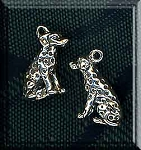 Sterling Silver 3D Dalmatian Dog Charm