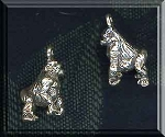 Sterling Silver 3D Gorilla Charm