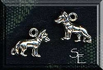 Sterling Silver German Shephard Charm