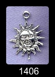 Sterling Silver Sun Pendant, Medieval