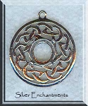 Sterling Silver Celtic Love Knot Pendant with 8-10mm Cab Area