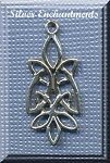 Sterling Silver Celtic Leaf Knot Pendant