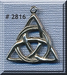 Sterling Silver Triquetra Pendant, Celtic Triquetra Jewelry