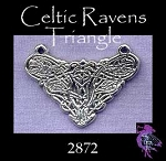 Sterling Silver Celtic Raven Kntwork Y Necklace Centerpiece
