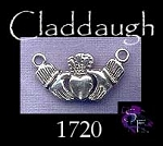 Sterling Silver Claddagh Centerpiece, Claddaugh Irish Jewelry Finding