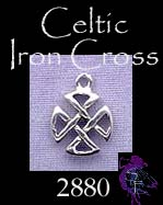 Sterling Silver Small Celtic Iron Cross Charm