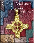 Bailed Gold Plated Celtic Cross Pendant, Solar Cross