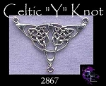 Sterling Silver Celtic Necklace Centerpiece, Celtic Jewelry Finding