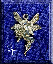 Sterling Silver Fairy Charm, Victorian