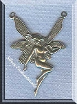 Sterling Silver Fairy Necklace Y Connector, Fairy Jewelry Finding, 31x21mm