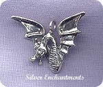 Sterling Silver Bailed Dragon Pendant