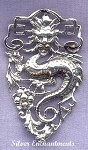 Sterling Silver Celestial Dragon Pendant, Large