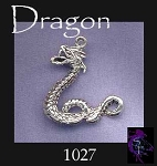 Sterling Silver Dragon Pendant, Wyrm