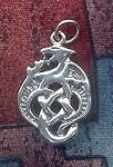 Sterling Silver Celtic Dragon Charm